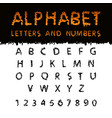 latin alphabet with scribble texture vector image vector image