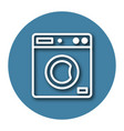 line icon of clothes washer with shadow eps 10 vector image