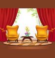 living room cartoon interior vector image vector image