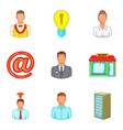 loan for business icons set cartoon style vector image vector image