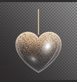 luminous heart with sparkles vector image