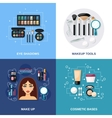 Makeup Flat Set vector image
