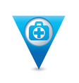 medical icon pointer blue vector image vector image