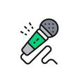 microphone karaoke audio equipment flat color vector image vector image