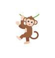 monkey hanging on vine vector image