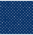 Navy Blue White Star Polka Dots Background vector image