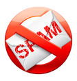 No spam sign vector image vector image