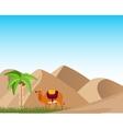 Oasis in desert vector image vector image