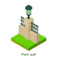 park wall icon isometric style vector image vector image
