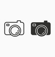 photo icon for graphic and web design vector image vector image