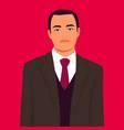 portrait asian upset man in business suit vector image vector image