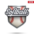 Premium symbol of Softball label vector image vector image