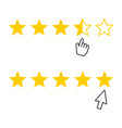 rating ranking icon with cursor vector image