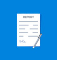 report document file icon form paper document vector image