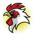 rooster mascot logo premium design vector image vector image