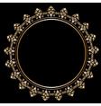 Royal golden frame vector image vector image