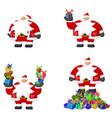 santa claus cartoon gifts vector image