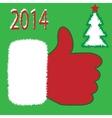 Santa Claus like icon vector image
