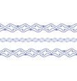 Seamless wave border vector image