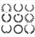 set - laurel wreath vector image vector image