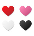 set of paper heart vector image vector image