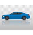 side view of business sedan vehicle template vector image vector image
