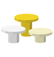 Sports Round podium on a white background Three vector image vector image