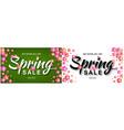 spring sale banner deal sale banner vector image