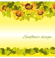 Sunflower yellow border horisontal gesign vector image vector image