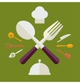 Tableware Serving Utensils icons set great for any vector image vector image