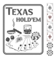 Texas Hold em poker vector image vector image