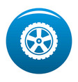 transport tire icon blue vector image vector image
