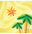 Tropical setting vector image vector image