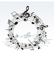 twisted music notes vector image vector image