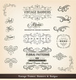 vintage calligraphic design banners vector image vector image