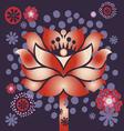 violet blossom vector image vector image