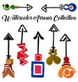 watercolor arrows collection vector image