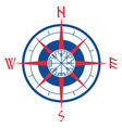 wind rose navigation runic compass vegvisir vector image vector image