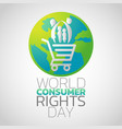 world consumer rights day logo icon design vector image vector image