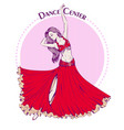 dance line color belly dance vector image