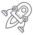 space rocket line icon sign vector image