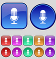 microphone icon sign A set of twelve vintage vector image