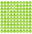 100 mushrooms icons set green circle vector image vector image