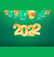 2022 golden number happy new year celebration vector image vector image