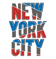 athletic new york city vector image vector image