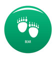 bear step icon green vector image