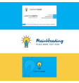 beautiful idea logo and business card vertical vector image vector image