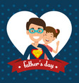 best father with daughter avatars vector image