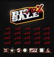 big sale tag builder kit typography in sport vector image
