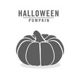 black pumpkin icon isolated on white vector image vector image